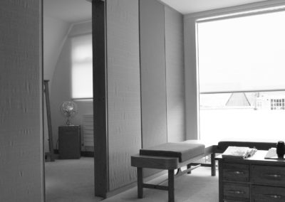 View into one of the fitting rooms